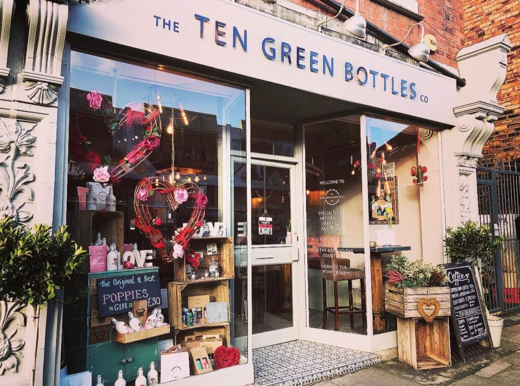The ten green bottles storefront